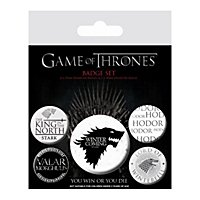 Game of Thrones - Buttons Winter Is Coming