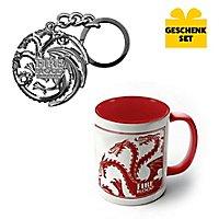Game of Thrones - Geschenk-Set aus Keramiktasse und Schlüsselanhänger