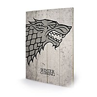 Game of Thrones - Holz-Print Haus Stark