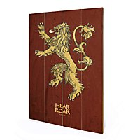 Game of Thrones - Holz-Print Lannister