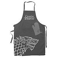 "Game of Thrones - Kochschürze mit Handschuh ""Hear Me Roar"" Haus Stark"