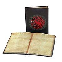 Game of Thrones - Notizbuch mit Leuchtfunktion Targaryen