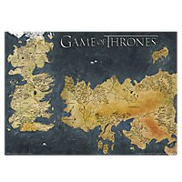 Game of Thrones - Poster Westeros und Essos Antike Karte im Metallic Look