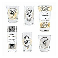 Game of Thrones - Premium Schnapsgläser 6er-Pack Schwarz & Gold