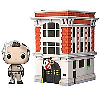 Ghostbusters - Dr. Peter Venkman mit Firehouse Funko POP! Town Figur