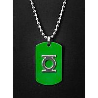 Green Lantern - Edelstahl Dog Tag grün