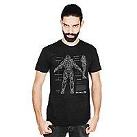 Halo - T-Shirt Master Chief Anatomy