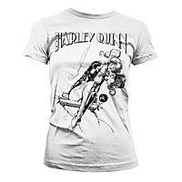 Harley Quinn - Girlie Shirt Harley auf Schaukel