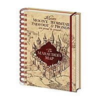 Harry Potter - A5 Notizbuch Karte des Herumtreibers