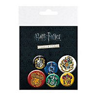 Harry Potter - Ansteck-Buttons Hauswappen & Quidditch