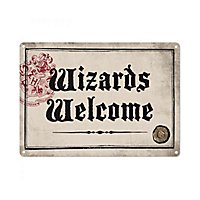 "Harry Potter - Blechschild ""Wizards Welcome"""