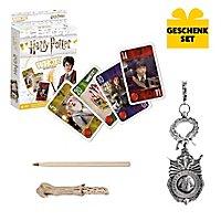 Harry Potter - Geschenk-Set aus Spielkarten, Zauberstab und Schlüsselanhänger