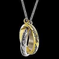 Herr der Ringe - Der Eine Ring verschlungen Anhänger mit Kette