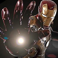 Iron Man - Battlefield Iron Man (Iron Man 3) LED Beleuchtungs-Set