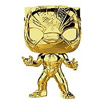 Marvel - Black Panther (Gold Chrome) Funko POP! Bobble-Head Figur