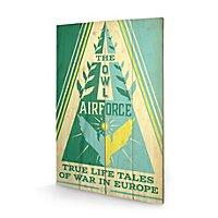 Phantastische Tierwesen - Holz-Print The Owl Airforce