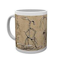 Phantastische Tierwesen - Tasse Bowtruckles Skizzen