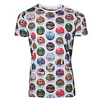Pokémon - T-Shirt Pokéball Allover Print