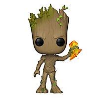 Marvel - Groot (mit Stormbreaker) Funko POP! Bobble-Head Figur