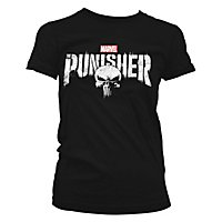 Punisher - Girlie Shirt Distressed Logo