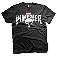 Punisher - T-Shirt Distressed Logo