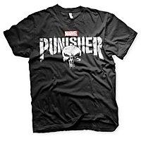 Punisher - T-Shirt Distressed Logo