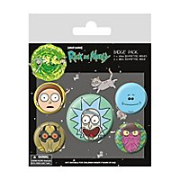 Rick and Morty - Button Set Köpfe