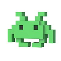Space Invaders - 8 Bit Retro Medium Invader Funko POP! Figur