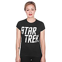 Star Trek - Girlie Shirt Distressed Logo