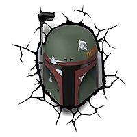 Star Wars - 3D Wandleuchte Boba Fett
