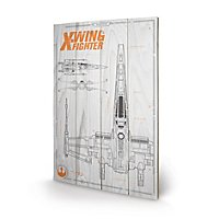 Star Wars 7 - Holz-Print X-Wing Plan