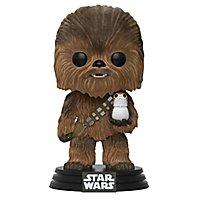 Star Wars 8 - Chewbacca mit Porg (Flocked) Funko POP! Wackelkopf Figur (Exclusive)