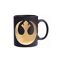 Star Wars 8 - Feel The Force Rebellen Logo Tasse