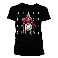Star Wars 8 - Girlie Shirt Bring Order To The Galaxy
