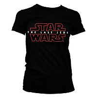 Star Wars 8 - Girlie Shirt The Last Jedi Logo schwarz