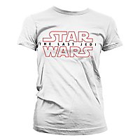 Star Wars 8 - Girlie Shirt The Last Jedi Logo weiß