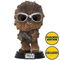 Star Wars - Chewbacca mit Schutzbrille (beflockt) Funko POP! Bobble-Head Figur