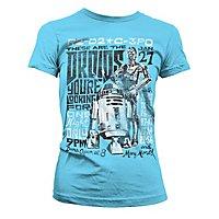 Star Wars - Girlie Shirt Droids Night