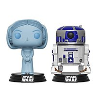 Star Wars - Hologramm Leia und R2-D2 Funko POP! Figuren Exclusive