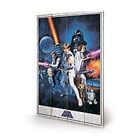 Star Wars - Holz-Print Star Wars IV: Eine neue Hoffnung