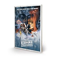 Star Wars - Holz-Print Star Wars V: The Empire Strikes Back