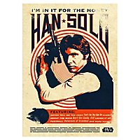 Star Wars - Metall-Poster Han Solo: I´m in it for the Money