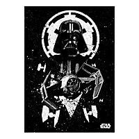 Star Wars - Metall-Poster Tie Advanced