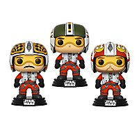 Star Wars - Pilots Wedge, Biggs & Porkins Funko POP! Wackelkopf Figuren-Set