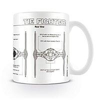 Star Wars - Tasse Tie Fighter Sketch