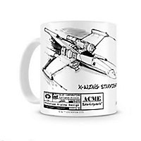 Star Wars - Tasse X-Wing Skizze