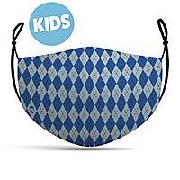 Stoffmaske für Kinder Zauberschule blau