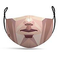 Stoffmaske Polygon Gesicht