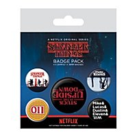 Stranger Things - Ansteck-Buttons Upside Down