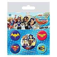 Super Hero Girls - Ansteck-Buttons Logos